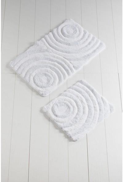 Chilai Home Wave Beyaz 2Li Set Banyo Halısı