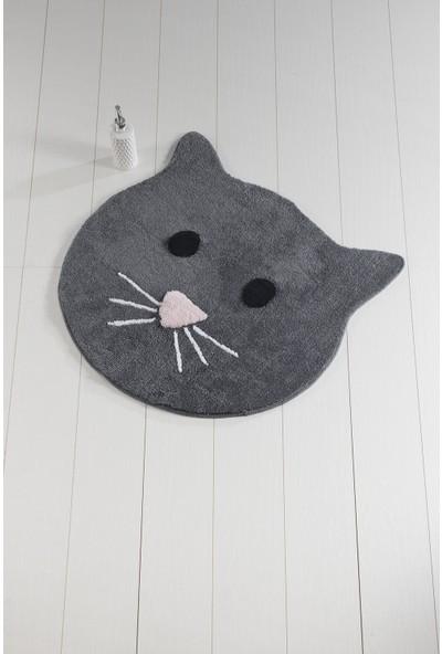Chilai Home Cat Füme 90 x 90 Cm Banyo Halısı