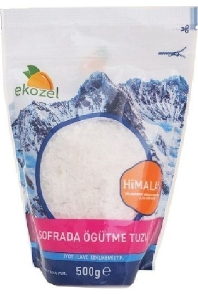 Ekozel Himalaya Kristal Tuzu Beyaz İnce 500 gr