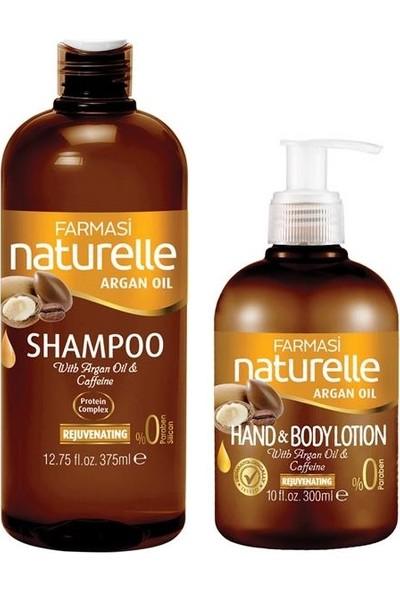 Farmasi Naturelle Argan Yağı Şampuanı 375 ml + Vücut Losyonu 300 ml