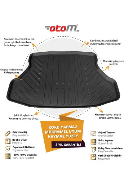 Otom Hyundai İ20 2014-2019 Araca Özel Bagaj Havuzu