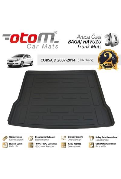 Otom Opel Corsa 2007-2014 D Araca Özel Bagaj Havuzu