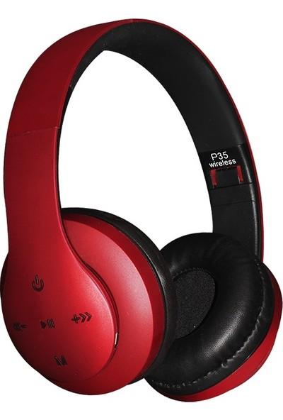 Pangpai P35LE Bluetooth ve Wireless Kulaküstü Kulaklık - Siyah
