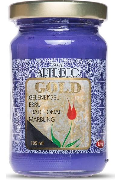 Artdeco Gold Geleneksel Ebru Boyası 105Ml - 436 Mor