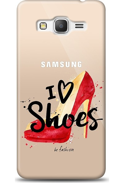 Eiroo Samsung Galaxy Grand Prime / Plus I Love Shoes Baskılı Tasarım Kılıf