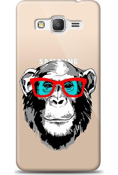 Eiroo Samsung Galaxy Grand Prime / Plus Hipster Monkey Baskılı Tasarım Kılıf
