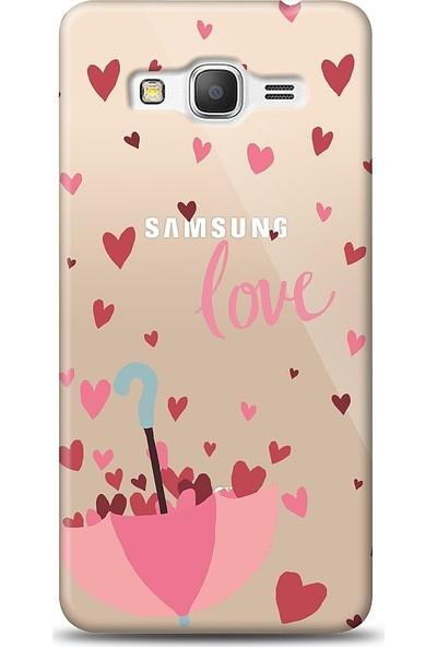 Eiroo Samsung Galaxy Grand Prime / Plus Love Umbrella Baskılı Tasarım Kılıf