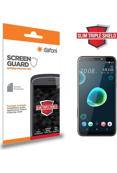 Dafoni HTC Desire 12 Plus Slim Triple Shield Ekran Koruyucu