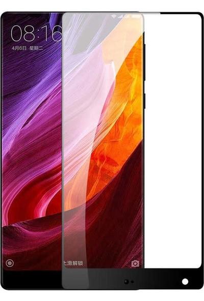 Dafoni Xiaomi Mi Mix 2s Curve Tempered Glass Premium Full Siyah Cam Ekran Koruyucu