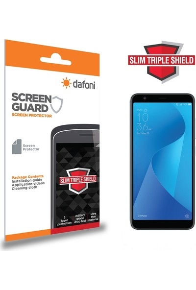 Dafoni Asus Zenfone Max Plus ZB570TL Slim Triple Shield Ekran Koruyucu