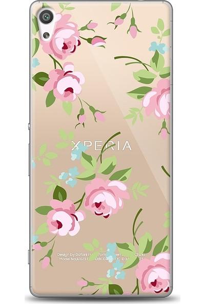 Eiroo Sony Xperia XA Ultra Roses Baskılı Tasarım Kılıf