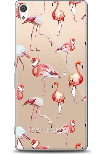 Eiroo Sony Xperia XA Ultra Flamingo Baskılı Tasarım Kılıf