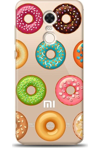 Eiroo Xiaomi Redmi 5 Plus Donuts Baskılı Tasarım Kılıf