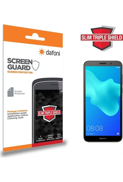 Dafoni Huawei Y5 2018 Slim Triple Shield Ekran Koruyucu