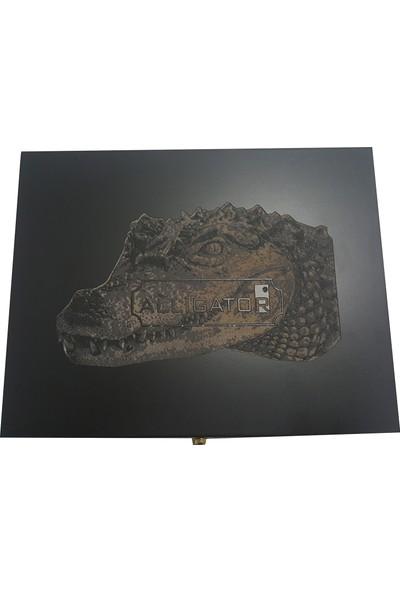 Alligator Erkek Yılan Derisi Kemer