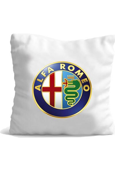 Hediye Mania Alfa Romeo Arabanıza Büyük Boy Yastık