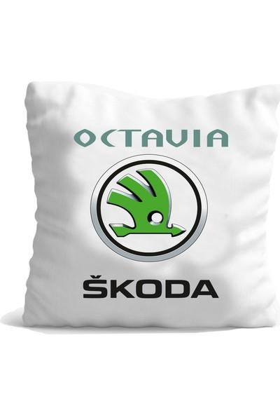 Hediye Mania Skoda Octavia Aracınıza Büyük Boy Yastık