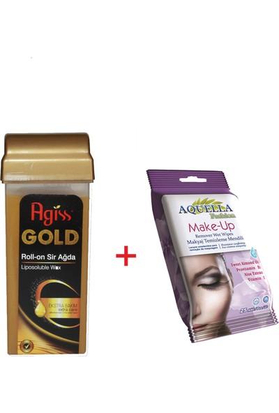 Agiss Kartuş RollOn Ağda (Gold) ve Makyaj Temizleme Mendili