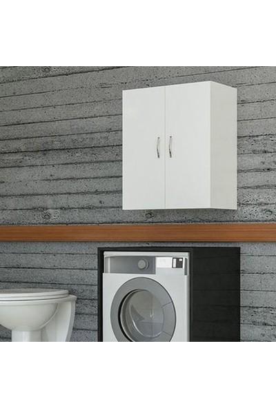 Bino Makina Üstü Dolap Banyo Dolabı Çamaşır Dolabı Kapaklı Dolap