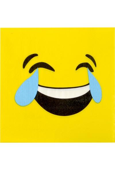 Partijet Kahkaha Atan Emoji Kağıt Peçete 33x33 cm 20'li