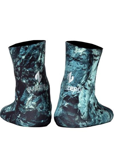 Subzero Stone 3mm 3D Green Kamuflaj Jarse Dalış Çorabı