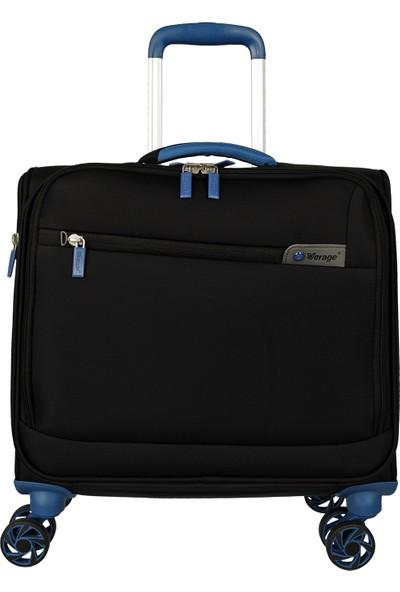 Verage Vrg17016-10Aw16,5'' Kabin Boy Tekerlekli Laptop Evrak Çantası Siyah