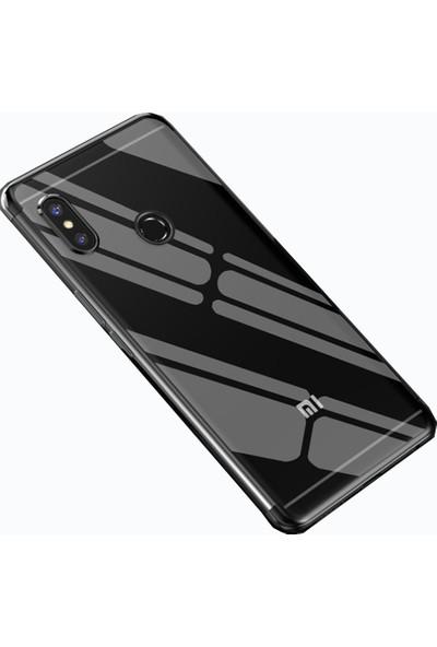 Teleplus Xiaomi Redmi S2 Lazer Silikon Kılıf Siyah + Nano Ekran Koruyucu