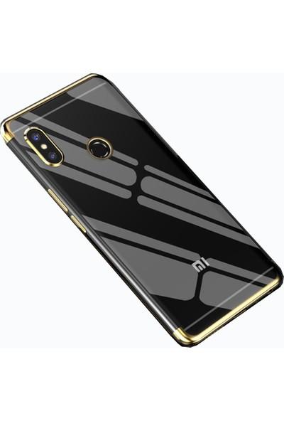 Teleplus Xiaomi Redmi S2 Lazer Silikon Kılıf Gold + Nano Ekran Koruyucu