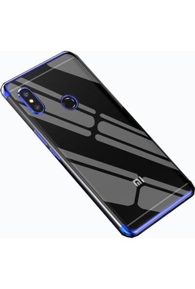 Teleplus Xiaomi Redmi S2 Lazer Silikon Kılıf Mavi + Nano Ekran Koruyucu