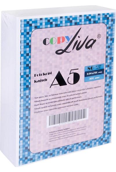 Copy Liva A5 Fotokopi Kağıdı 80 Gr 10 Paket (5000 Sayfa)