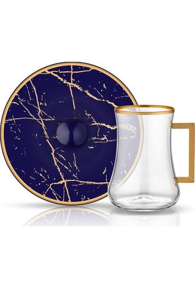 Koleksiyon Dervish Kulplu Çay St 6'Li Mermer Kobalt