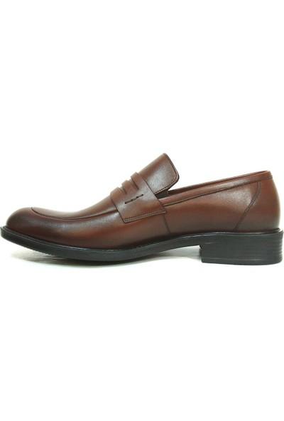 Aksin 163 Kahverengi Bağcıksız Erkek Ayakkabı