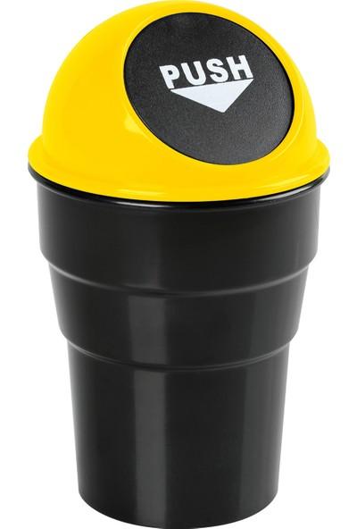 Lampa Push-Bin Araç İçi Çöp Kovası Sarı (ABS) 565458