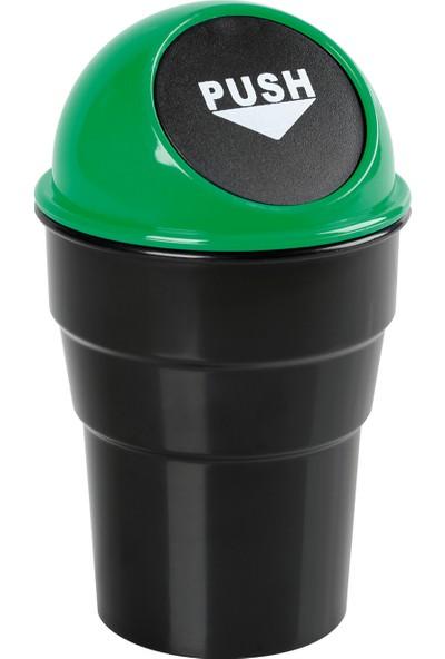 Lampa Push-Bin Araç İçi Çöp Kovası Yeşil (ABS) 465458