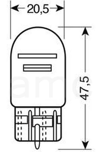 Lampa Şişman Dipsiz Ampul W21/5W 12V 2 Ad. 58096