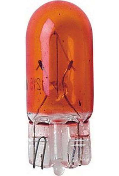 Lampa Amber WY5W Büyük Dipsiz Gösterge Ampulü 2 Ad. 58106