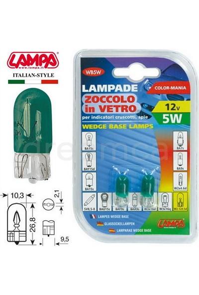 Lampa Yeşil 5W 12V Dipsiz Gösterge Ampulü 2 Ad. 58362