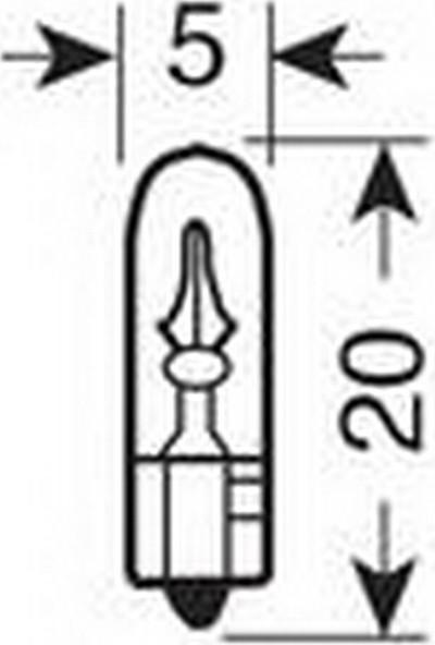 Lampa Mavi 1,2W T5 Dipsiz Gösterge Ampulü 2 Ad. 58355