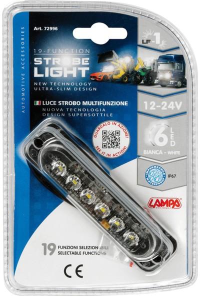 Lampa 19 Fonksiyon 6 Beyaz Led Çakar Lamba 72996