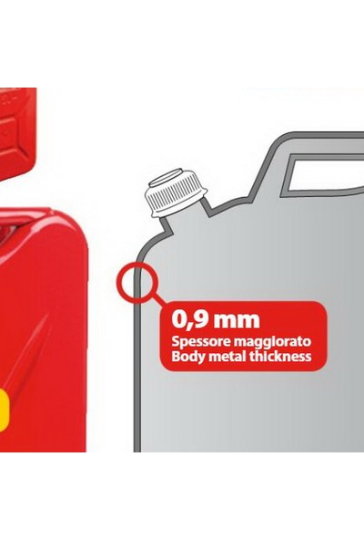 Lampa Premium Metal Benzin Bidonu 10Lt.