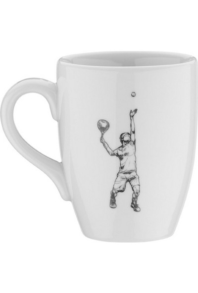 Kütahya Porselen Sporcu Mug Bardak Tenis