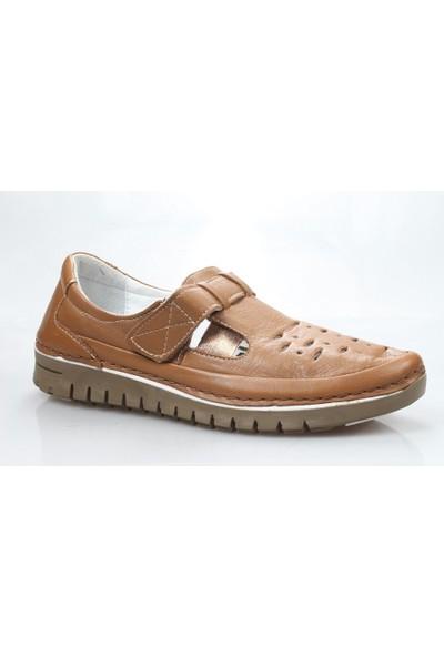 Mammamia D18Ya-3120-B Kadın Deri Ortopedik Günlük Ayakkabı