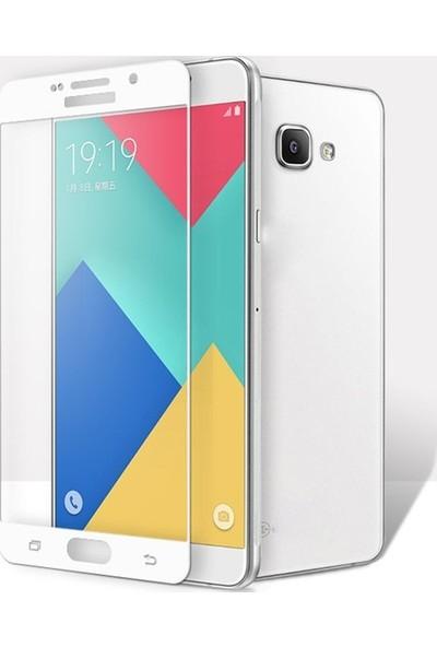 CoverZone Samsung Galaxy A5 2017 A520 3D Tam Kaplayan Cam Beyaz