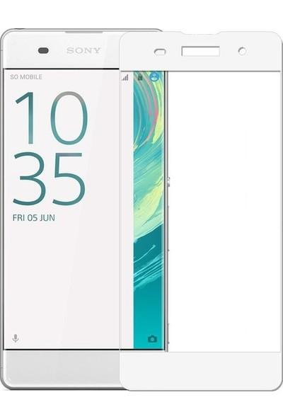 CoverZone Sony Xperia XA Ultra 3D Tam Kaplayan Cam Beyaz