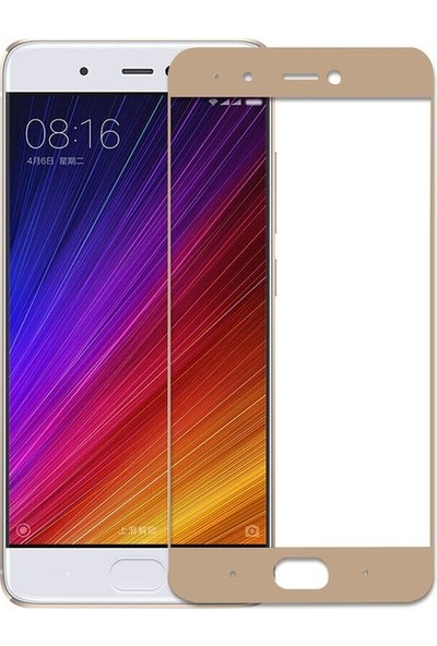 CoverZone Xiaomi Redmi 5A 3D Tam Kaplayan Cam Gold