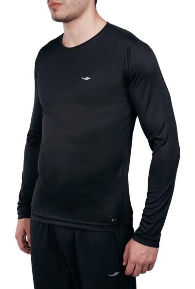 Lescon 18S-1222 Siyah Erkek Uzun Kollu Tişört