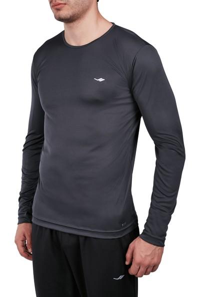 Lescon 18S-1222 Antrasit Erkek Uzun Kollu Tişört