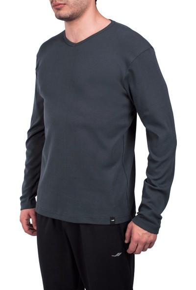 Lescon 18S-1247 Antrasit Erkek Uzun Kollu Tişört