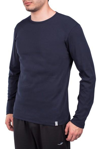 Lescon 18S-1248 Koyu Lacivert Erkek Uzun Kollu Tişört