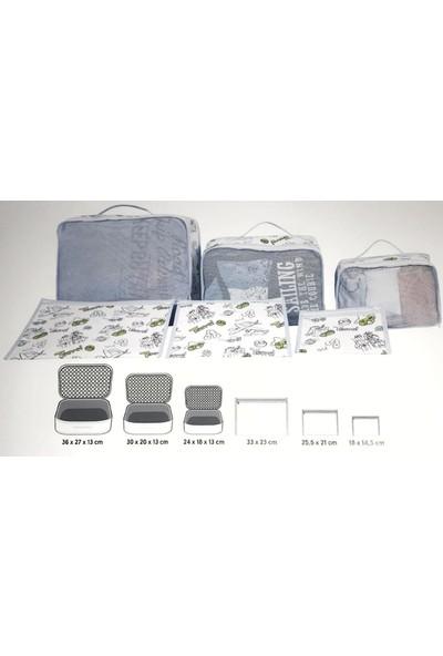 Alas Tekstil Luggage Organizer - 6 Farklı Boy Bavul Düzenleyici - Bavul Valiz Organizeri